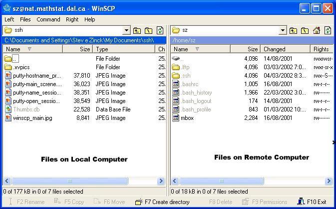 Using WinSCP